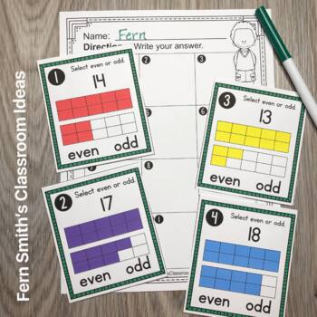 2nd Grade Go Math 1.1 Even or Odd Numbers Task Cards