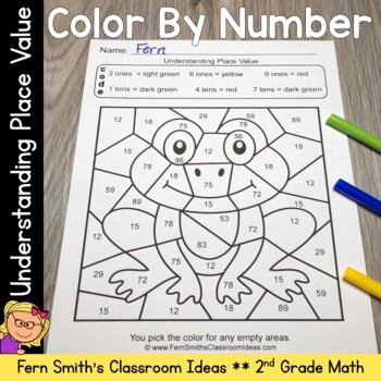 2nd Grade Go Math 1 3 Color By Numbers Understanding Place Value