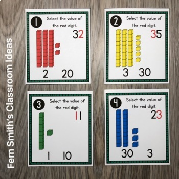 2nd Grade Go Math 1.3 Understanding Place Value Task Cards