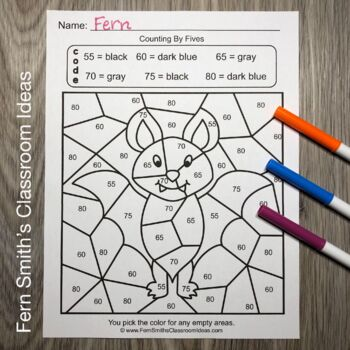 2nd Grade Go Math 1.8 Counting Patterns Within 100 Color By Numbers