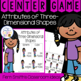 2nd Grade Go Math 11.2 Attributes of Three-Dimensional Shapes Center Games