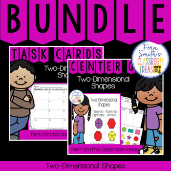 2nd Grade Go Math 11.3 Two-Dimensional Shapes Bundle