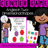 2nd Grade Go Math 11.4 Angles In Two-Dimensional Shapes Center Games