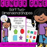 2nd Grade Go Math 11.5 Sort In Two-Dimensional Shapes Center Games
