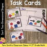 2nd Grade Go Math 11.5 Sort Two-Dimensional Shapes Task Cards