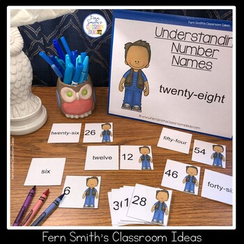2nd Grade Go Math 2.6 Understanding Number Names Center Games