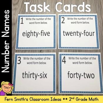 2nd Grade Go Math 2.6 Understanding Number Names Task Cards