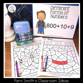 2nd Grade Go Math 2.7 Different Forms Of Numbers Bundle