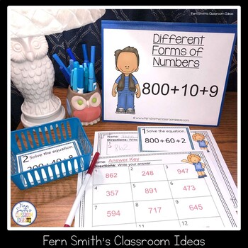 2nd Grade Go Math 2.7 Different Forms Of Numbers Task Cards