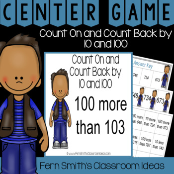 2nd Grade Go Math 2.9 Count On and Count Back by 10 and 100 Center
