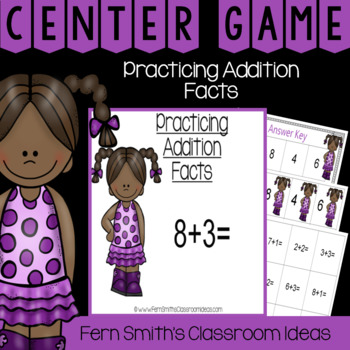 2nd Grade Go Math 3.2 Practicing Addition Facts Center Games