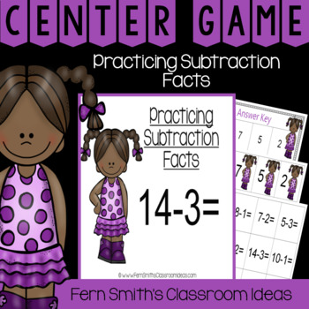 2nd Grade Go Math 3.4 Practicing Subtraction Facts Center Games