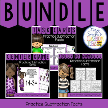 2nd Grade Go Math 3.4 Practicing Subtraction Facts Bundle