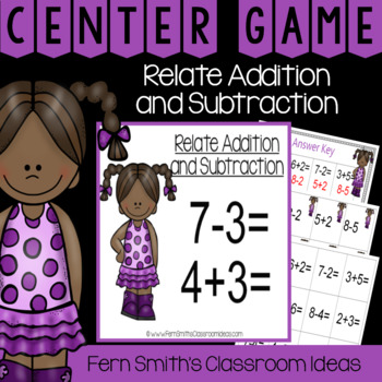 2nd Grade Go Math 3.5 Relating Addition and Subtraction Center Games