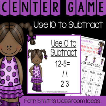 2nd Grade Go Math 3.7 Use 10 to Subtract Center Games