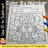 2nd Grade Go Math 3.7 Use 10 to Subtract Color By Numbers