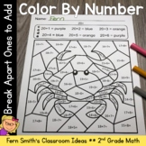 2nd Grade Go Math 4.1 Break Apart Ones to Add Color By Numbers