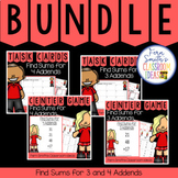 2nd Grade Go Math 4.11 and 4.12 Bundle: Find Sums for 3 and 4 Addends
