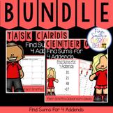 2nd Grade Go Math 4.12 Find Sums for 4 Addends Bundle