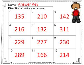 2nd Grade Go Math 4.12 Find Sums for 4 Addends Task Cards