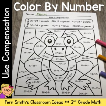 2nd Grade Go Math 4.2 Use Compensation Color By Numbers