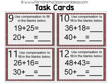 2nd Grade Go Math 4.2 Use Compensation Task Cards