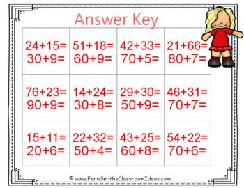 2nd Grade Go Math 4.3 Break Apart Addends as Tens and Ones Center Games