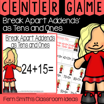 2nd Grade Go Math 4.3 Break Apart Addends as Tens and Ones Center Games