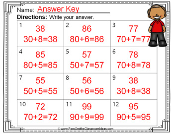 2nd Grade Go Math 4.3 Break Apart Addends as Tens and Ones Task Cards