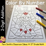 2nd Grade Go Math 4.6 2-Digit Addition Color By Numbers