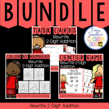 2nd Grade Go Math 4.8 Rewrite 2-Digit Addition Bundle