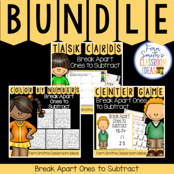 2nd Grade Go Math 5.1 Break Apart Ones to Subtract Bundle