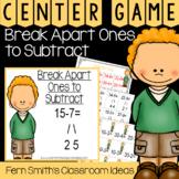 2nd Grade Go Math 5.1 Break Apart Ones to Subtract Center Games