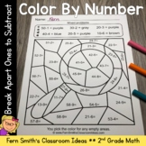 2nd Grade Go Math 5.1 Break Apart Ones to Subtract Color By Numbers