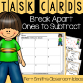 2nd Grade Go Math 5.1 Break Apart Ones to Subtract Task Cards