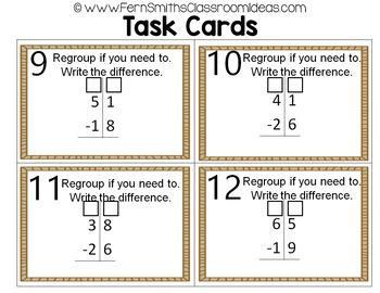 2nd Grade Go Math 5.5 2-Digit Subtraction Task Cards