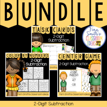 2nd Grade Go Math 5.5 2-Digit Subtraction Bundle