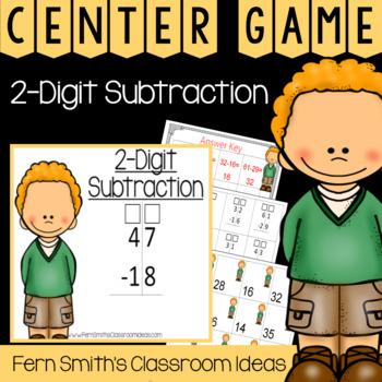2nd Grade Go Math 5.5 2-Digit Subtraction Center Games