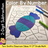 2nd Grade Go Math 5.5 2-Digit Subtraction Color By Numbers
