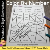 2nd Grade Go Math 5.6 Practice 2-Digit Subtraction Color B