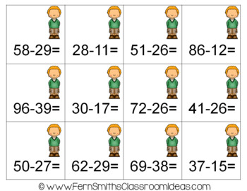 2nd Grade Go Math 5.7 Rewrite 2-Digit Subtraction Bundle