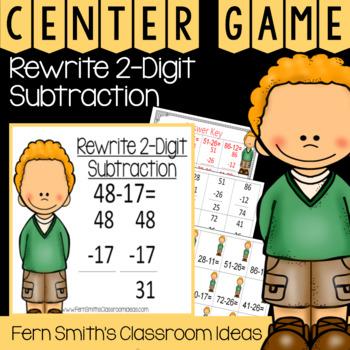 2nd Grade Go Math 5.7 Rewrite 2-Digit Subtraction Center Games