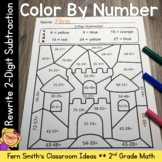 2nd Grade Go Math 5.7 Rewrite 2-Digit Subtraction Color By