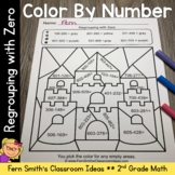 2nd Grade Go Math 6.10 Regrouping with Zero Color By Numbers