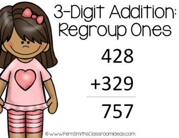 2nd Grade Go Math 6.3 3-Digit Addition: Regroup Ones Center Games