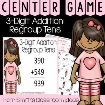 2nd Grade Go Math 6.3 3-Digit Addition: Regroup Ones Center Games