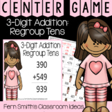 2nd Grade Go Math 6.4 3-Digit Addition: Regroup Tens Center Games