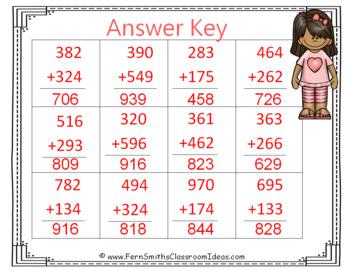 2nd Grade Go Math 6.4 3-Digit Addition: Regroup Tens Center Games