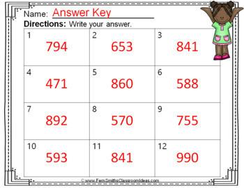 2nd Grade Go Math 6.3 3-Digit Addition: Regroup Ones Task Cards