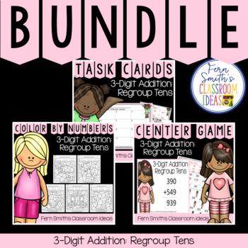 2nd Grade Go Math 6.4 3-Digit Addition: Regroup Tens Bundle